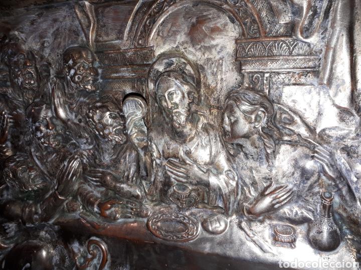 Arte: Cuadro la ultima cena de Jesús de metal platiado - Foto 3 - 185712356