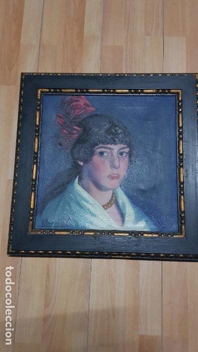 RAMON PAUS ALSINA-FECHADO 1916 NACIDO EN CASTELLON PINTOR DE LA BELLE EPOCA (Arte - Arte Religioso - Pintura Religiosa - Oleo)