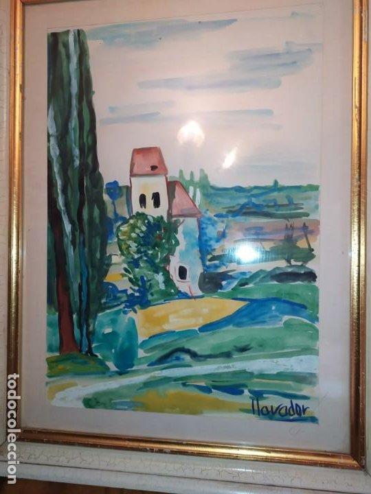 Arte: DIBUJO ACUARELA FIRMADO LLAVADOR PRECIOSO - Foto 2 - 185752640