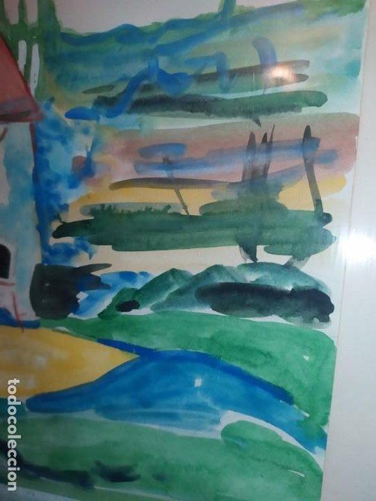 Arte: DIBUJO ACUARELA FIRMADO LLAVADOR PRECIOSO - Foto 6 - 185752640