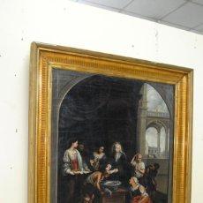 Arte: ÓLEO SOBRE LIENZO SANTA ISABEL DANDO DE COMER A LOS NIÑOS. Lote 185770177