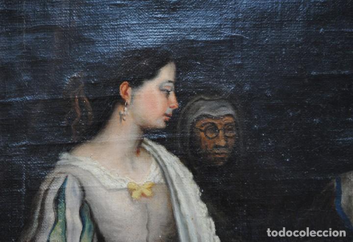 Arte: ÓLEO SOBRE LIENZO SANTA ISABEL DANDO DE COMER A LOS NIÑOS - Foto 5 - 185770177
