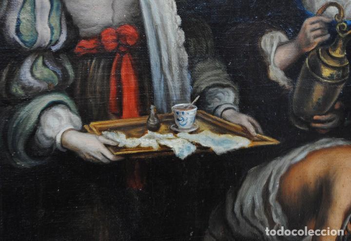 Arte: ÓLEO SOBRE LIENZO SANTA ISABEL DANDO DE COMER A LOS NIÑOS - Foto 6 - 185770177