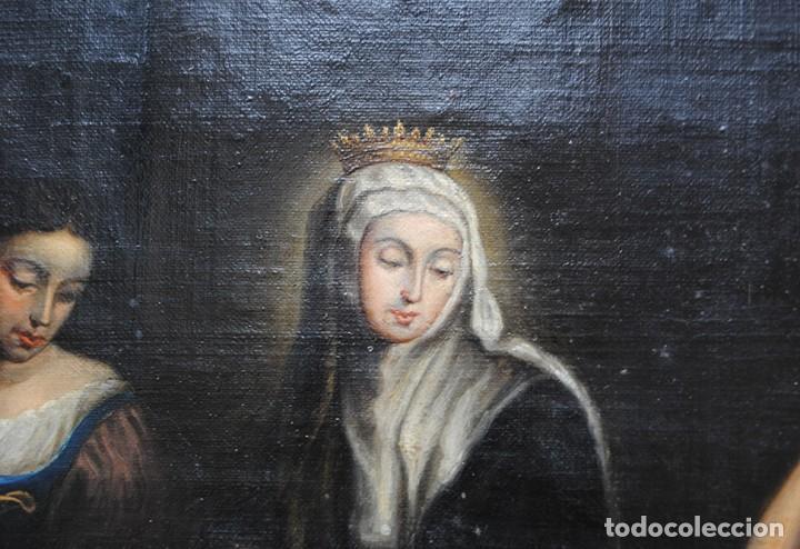 Arte: ÓLEO SOBRE LIENZO SANTA ISABEL DANDO DE COMER A LOS NIÑOS - Foto 7 - 185770177