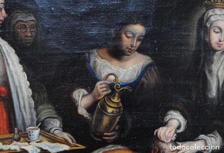 Arte: ÓLEO SOBRE LIENZO SANTA ISABEL DANDO DE COMER A LOS NIÑOS - Foto 8 - 185770177
