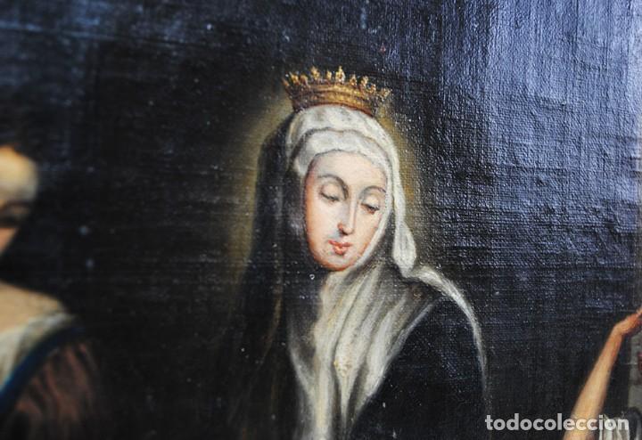 Arte: ÓLEO SOBRE LIENZO SANTA ISABEL DANDO DE COMER A LOS NIÑOS - Foto 9 - 185770177
