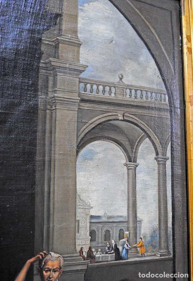 Arte: ÓLEO SOBRE LIENZO SANTA ISABEL DANDO DE COMER A LOS NIÑOS - Foto 13 - 185770177