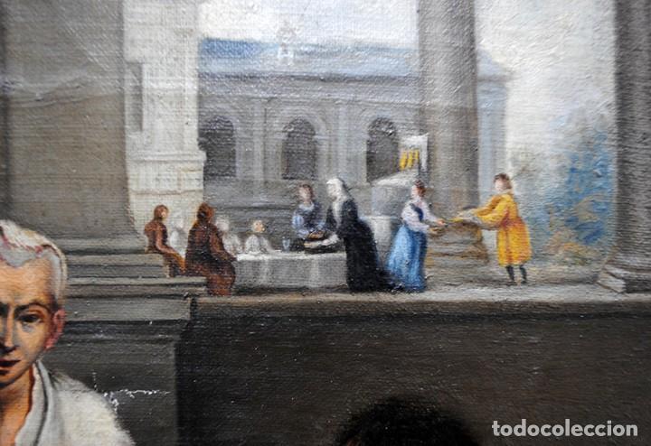 Arte: ÓLEO SOBRE LIENZO SANTA ISABEL DANDO DE COMER A LOS NIÑOS - Foto 14 - 185770177