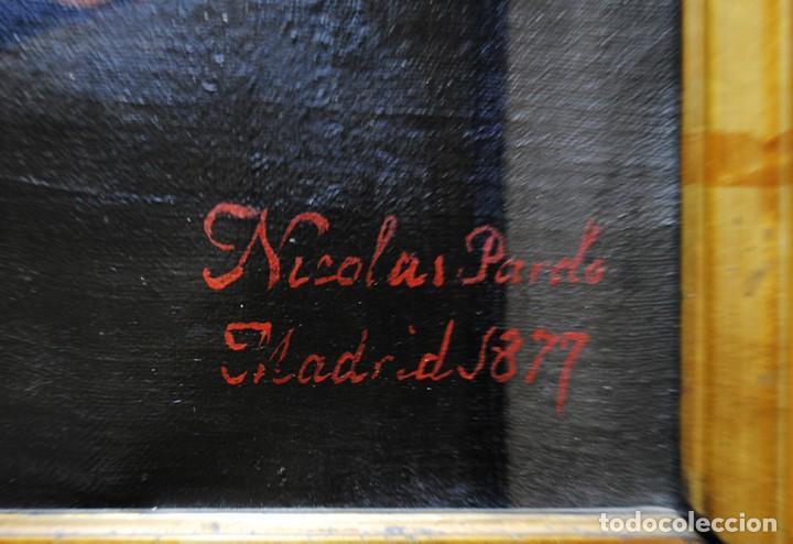 Arte: ÓLEO SOBRE LIENZO SANTA ISABEL DANDO DE COMER A LOS NIÑOS - Foto 17 - 185770177