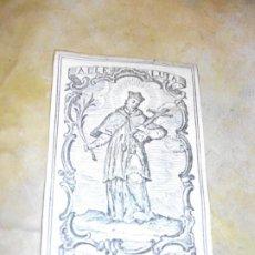 Arte: SIGLO XVIII GRABADO DE SAN JUAN NEPOMUCENO DE LA SANTA IGLESIA DE VALLADOLID - RELIGION. Lote 185782062