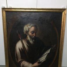 Art: PINTURA APÓSTOLES. ARTE SACRO. S. XVIII-XIX. (2 CUADROS). Lote 185873828
