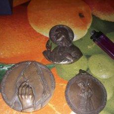 Arte: 3 IMÁGENES RELIGIOSAS S.CORAZÓN ,HECCE HOMO ,CONMEMORATIVA. Lote 185886941