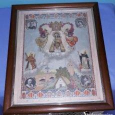 Arte: RECUERDO ENMARCADO DE LA CORONACION VIRGEN DE LOS DESAMPARADOS 12 DE MAYO DE 1923 ALFONSO XII. Lote 185896795