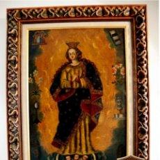 Arte: FABULOSO CUADRO PINTURA ANTIGUA OBRA DE ARTE COLONIAL ESCUELA DE CUZCO. Lote 185930687
