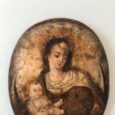 Arte: ÓLEO SOBRE COBRE, VIRGEN INMACULADA Y NIÑO JESÚS, SIGLO XVII. Lote 186085907