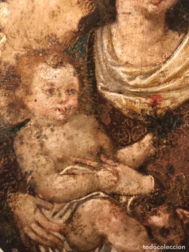 Arte: ÓLEO SOBRE COBRE, VIRGEN INMACULADA Y NIÑO JESÚS, BARROCO, SIGLO XVII - Foto 2 - 186085907
