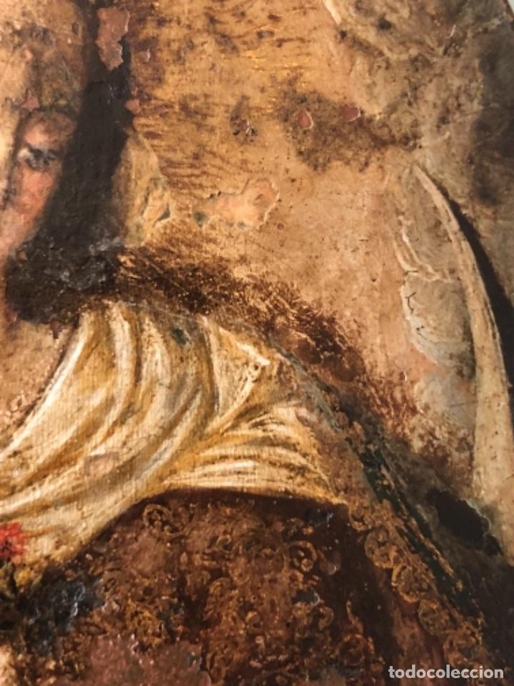 Arte: ÓLEO SOBRE COBRE, VIRGEN INMACULADA Y NIÑO JESÚS, BARROCO, SIGLO XVII - Foto 5 - 186085907