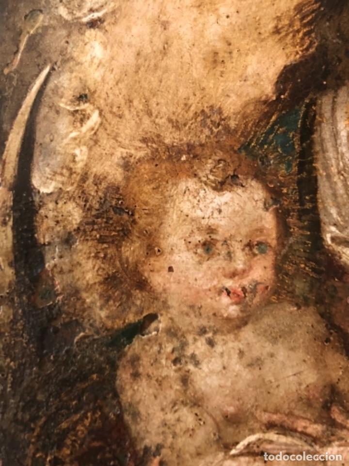 Arte: ÓLEO SOBRE COBRE, VIRGEN INMACULADA Y NIÑO JESÚS, BARROCO, SIGLO XVII - Foto 7 - 186085907