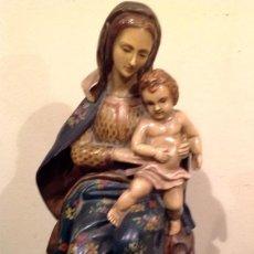 Arte: ANTIGUA FIGURA DE LA VIRGEN CON NIÑO JESUS . Lote 186126706