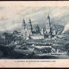 Arte: GIROEXLIBRIS FELICITACIÓN DE NAVIDAD DE 1949 DE LA EMPRESA DENTICLOR CON GRABADO DE S.DE COMPOSTELA. Lote 186134732