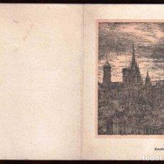 Arte: GIROEXLIBRIS FELICITACIÓN DE NAVIDAD DE 1954 DE LA EMPRESA METSA CON GRABADO DE LA CATEDRAL DE BARNA. Lote 186134946