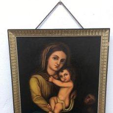Arte: OLEO SOBRE LIENZO FIRMADO G, MARTIN , CON DEDITORIA ESCRITA POR DETRAS. Lote 186142436