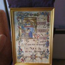 Arte: REPRODUCCIÓN VINTAGE , DE UNA PAGINA DE LA SANTA CROCE, DEL CORALE MINIATO, FLORENCIA, SIGLO IV. Lote 186144020