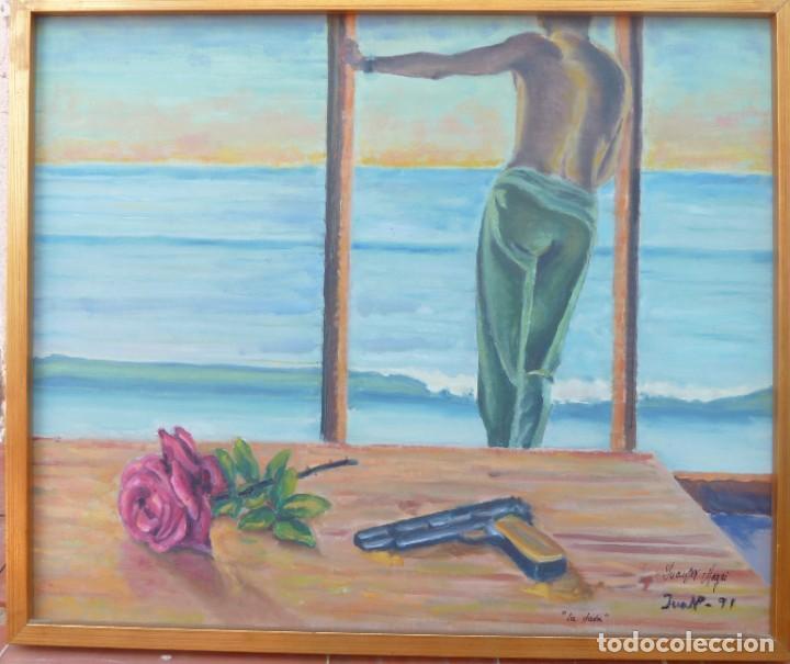 ÓLEO SOBRE TELA DE 56X47 CMS, LA DUDA. AÑO 1991 (Arte - Arte Religioso - Pintura Religiosa - Oleo)