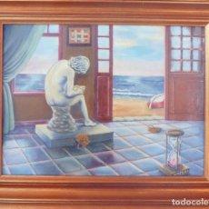 Arte: ÓLEO SOBRE TABLA DE 40X30 CMS, LETARGO. Lote 186166005