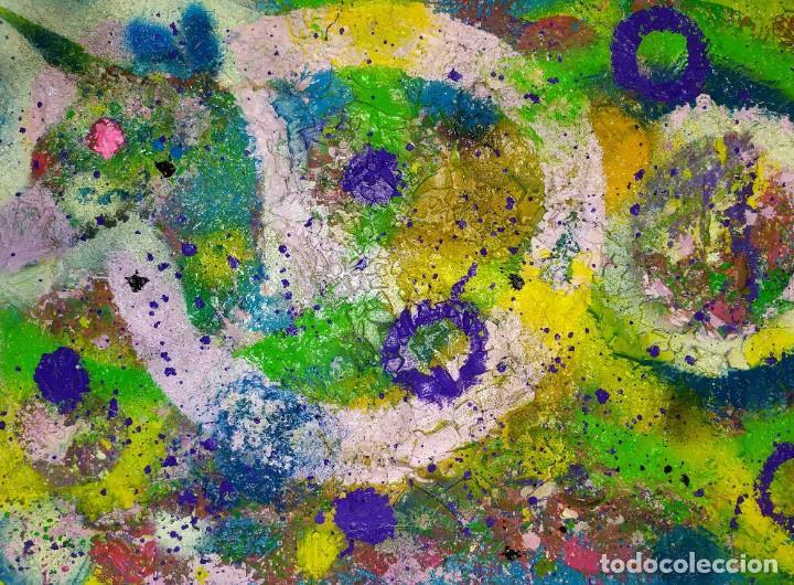 CUADRO PSICODELICO EN RELIEVE 3D COLORIDO SIN MARCO 50X70 CM (Arte - Arte Religioso - Pintura Religiosa - Otros)