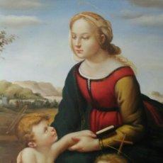 Arte: PRECIOSO CUADRO ÓLEO.MADONNA. VIRGEN. LA BELLA JARDINERA. RAFAEL.. Lote 186209945