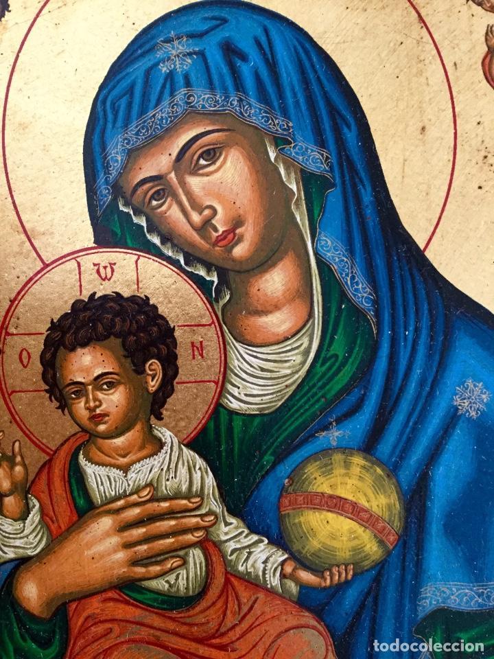 Arte: Icono ruso pintado a mano según los procedimientos del Arte Bizantino 32,5x44cm - Foto 4 - 186217778