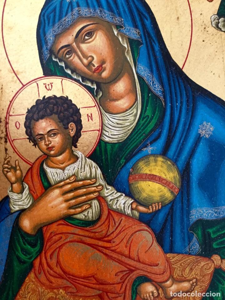Arte: Icono ruso pintado a mano según los procedimientos del Arte Bizantino 32,5x44cm - Foto 5 - 186217778