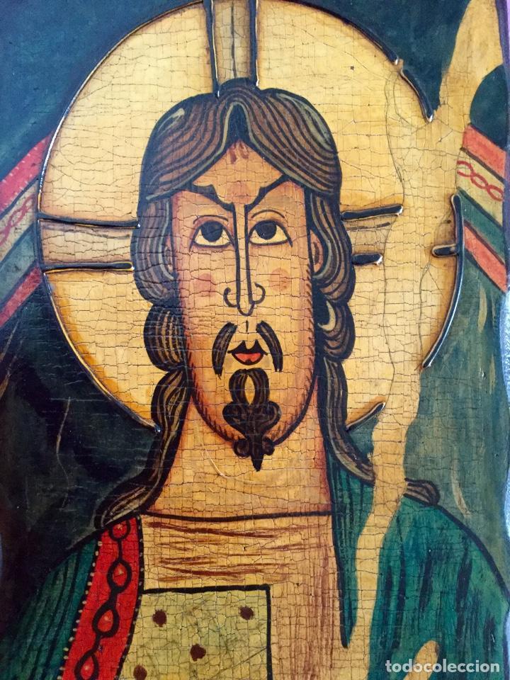 Arte: Retablo al estilo románico pintado a mano siguiendo procedimientos antiguos 20x30cm - Foto 3 - 186218750