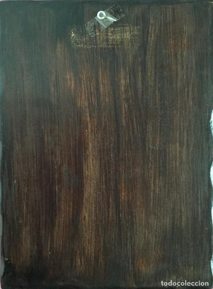 Arte: Retablo pintado siguiendo procedimientos antiguos con representación del Pantocrátor firmado 30x40cm - Foto 5 - 186219706