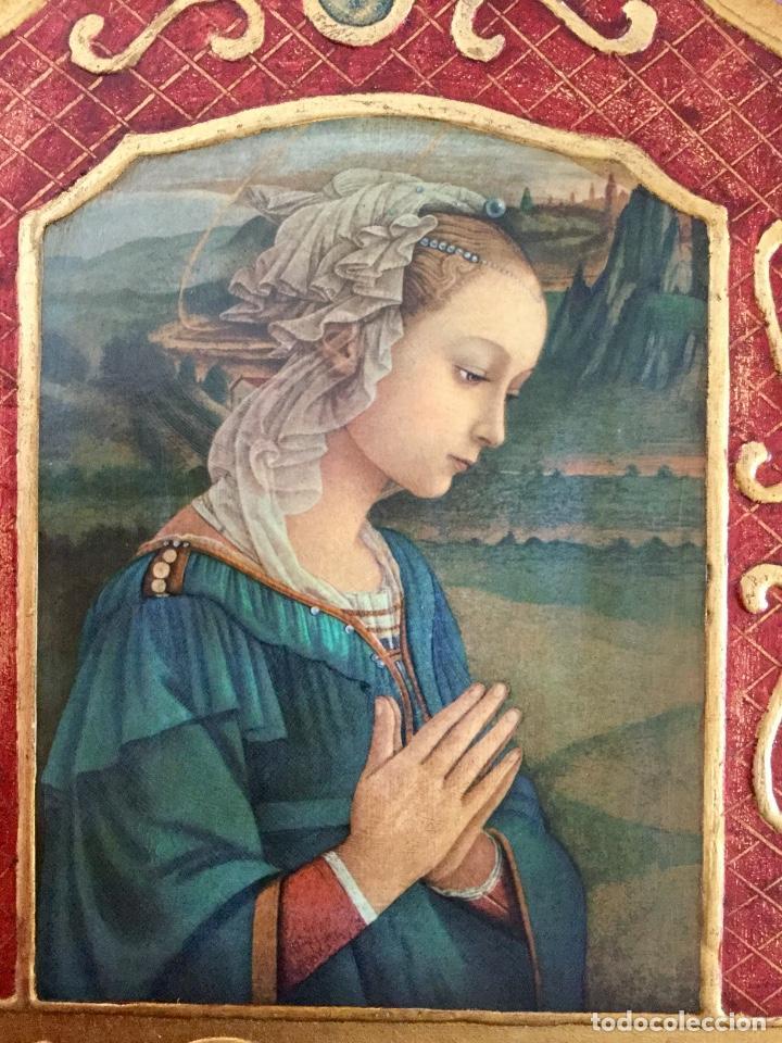 Arte: Tríptico religioso con puertas decoradas - Foto 2 - 186220266