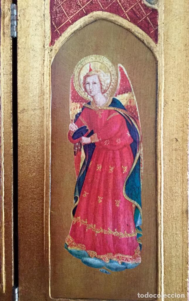 Arte: Tríptico religioso con puertas decoradas - Foto 3 - 186220266