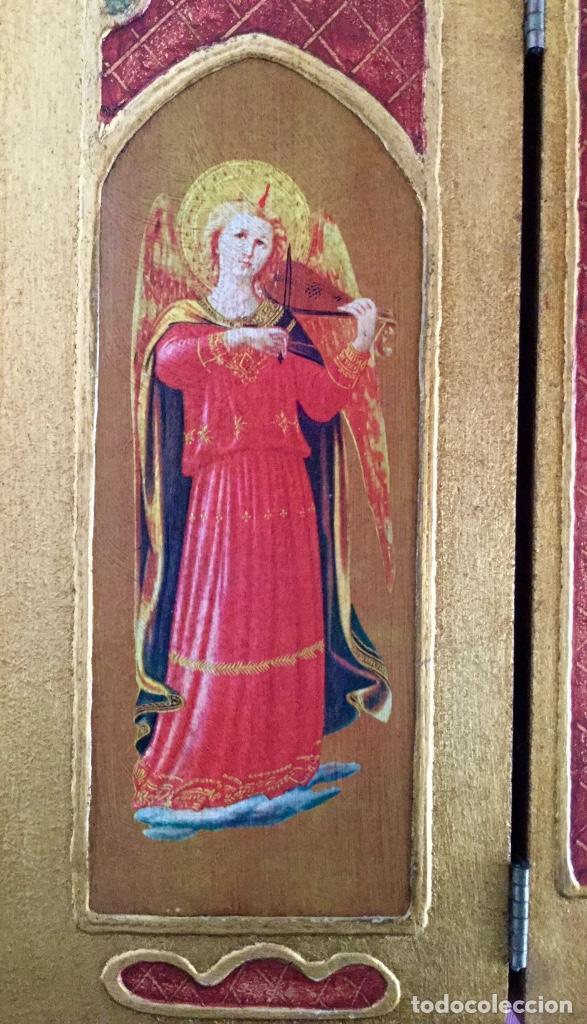 Arte: Tríptico religioso con puertas decoradas - Foto 4 - 186220266