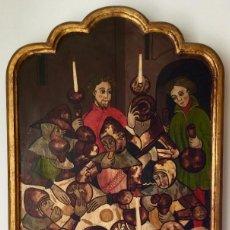 Arte: MONTSERRAT VILA DE ROCA (RODA DE TER) GRAN RETABLO CON PERSONAJES (39,5X68,5X 3CM). Lote 186227811