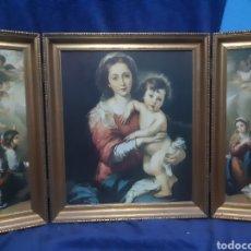 Art: ANTIGUO TRÍPTICO RELIGIOSO. Lote 186266716