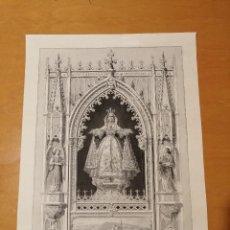 Arte: IMAGEN DE NUESTRA SEÑORA DE MISERICORDIA QUE SE VENERA EN CANET DE MAR. A. FATJÓ CA. 1860. Lote 186274893