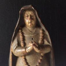 Arte: ANTIGUA TALLA DE MADERA VIRGEN DE LA SOLEDAD FINALES S XVIII. Lote 186282736