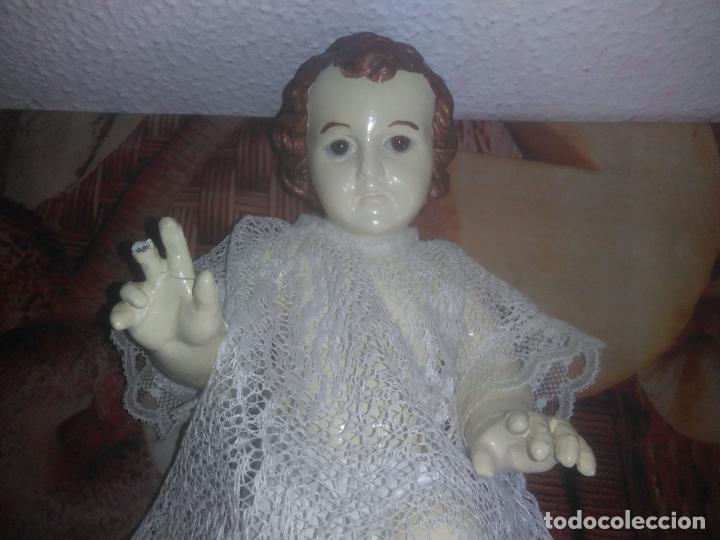 Arte: Antiguo niño Jesús ojos de cristal vestido ver fotos - Foto 4 - 186320756