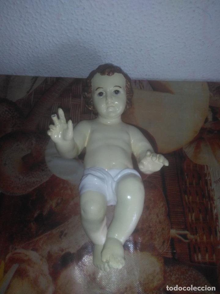 Arte: Antiguo niño Jesús ojos de cristal vestido ver fotos - Foto 10 - 186320756