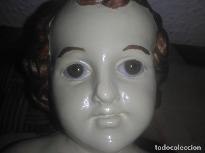 Arte: Antiguo niño Jesús ojos de cristal vestido ver fotos - Foto 12 - 186320756