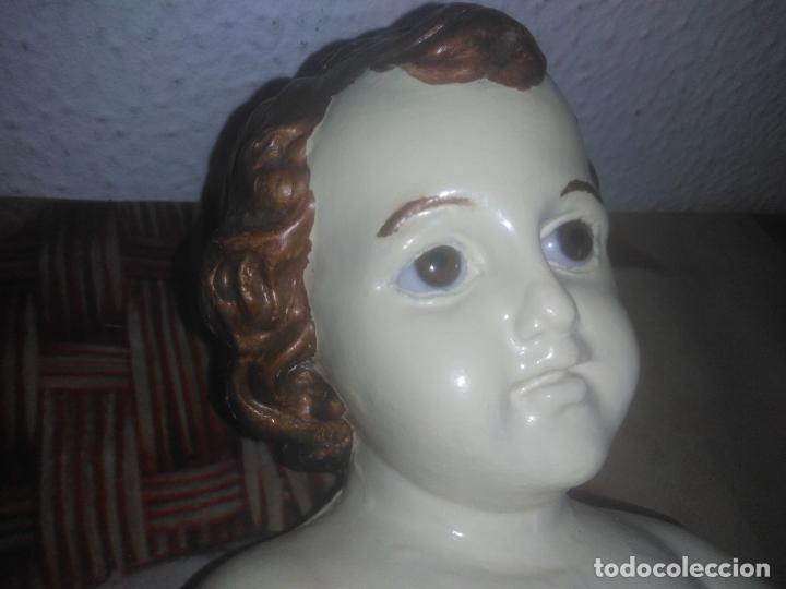 Arte: Antiguo niño Jesús ojos de cristal vestido ver fotos - Foto 13 - 186320756