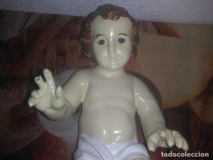 Arte: Antiguo niño Jesús ojos de cristal vestido ver fotos - Foto 15 - 186320756