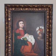 Arte: RÉPLICA DE LA VIRGEN NIÑA EN ORACIÓN. Lote 186334362