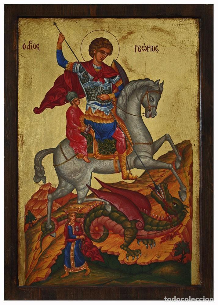 SAN JORGE PINTADO A MANO (Arte - Arte Religioso - Iconos)
