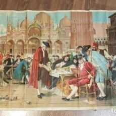 Arte: CUADRO OLEOGRAFÍA IMPRESIÓN EN TAPIZ DEL PINTOR ITALIANO A. BORSARI DE BERTINI. Lote 186351837